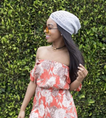 orange flower romper, HER boutique 6